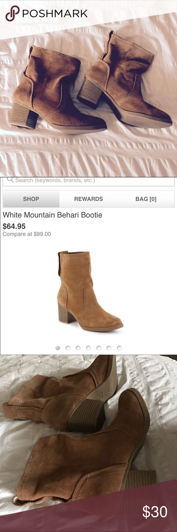 Behari Bootie White Mountain behari bootie. Worn once, in perfect condition. These babies are so comfortable and cute! White Mountain Shoes