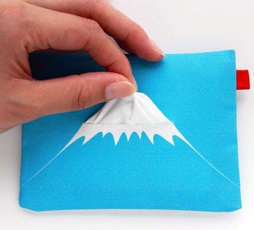 Too cute! Mount Fuji tissue holder!