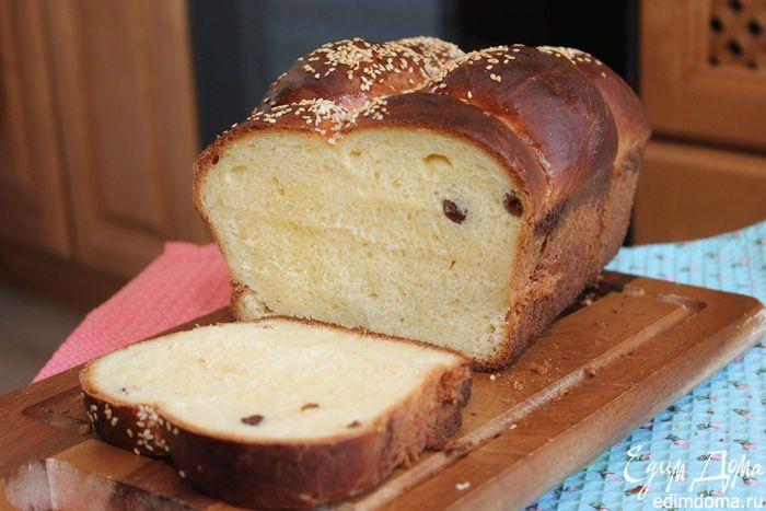 Сладкий хлеб с изюмом. Потрясающий хлеб: ароматный, с нежным мякишем и вкусной корочкой. А вы печете хлеб дома? #edimdoma #recipe #cookery