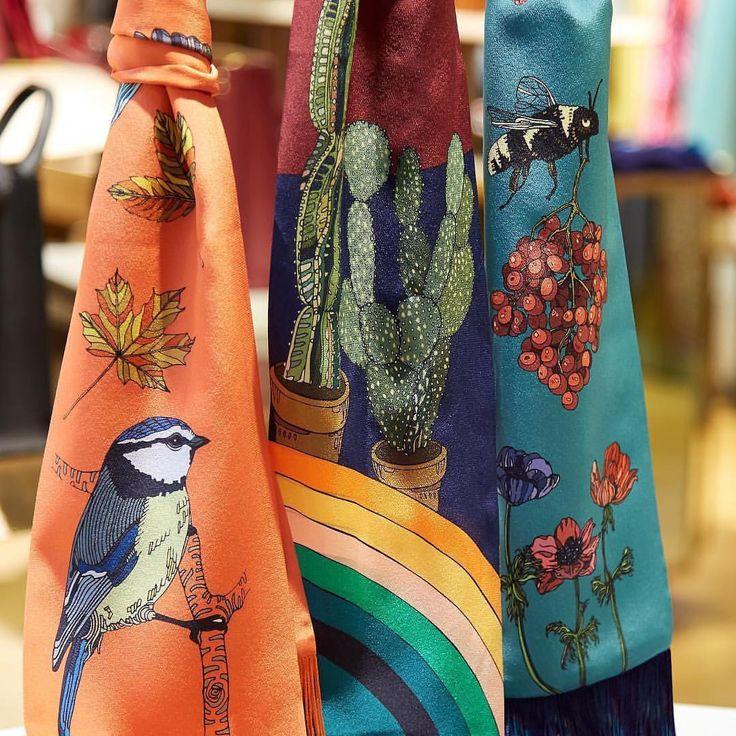 New silk skinny scarves in store  @libertylondon ❤️