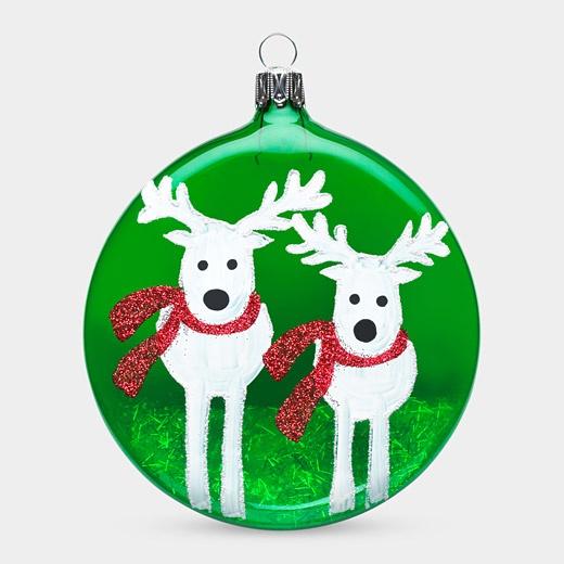 Reindeer Disk Ornament - can do with fingerprints