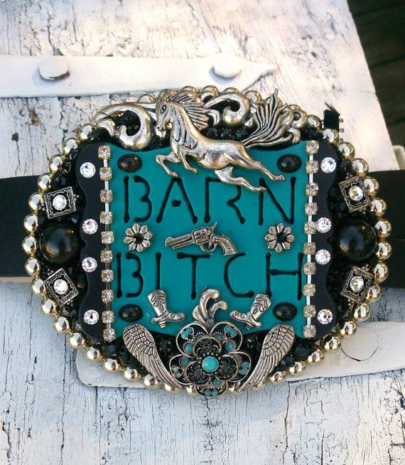 Horse Cowgirl Bling Western Rodeo Belt Buckle, One Of A Kind by Secret Stash Boutique, purchase at: https://www.etsy.com/listing/161720928/horse-cowgirl-bling-western-rodeo-belt