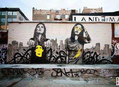 Preciosos murales by Fin DAC & Angelina Christina en la ciudad de New York. Menudo nivelazo de Murales…