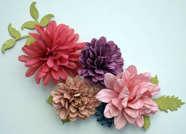 Flowers made using flat flowers - Artist Janine Koczwara