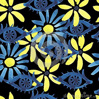 Beautiful, watercolor, abstract seamless pattern