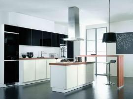 Japanese simple kitchen white black modern