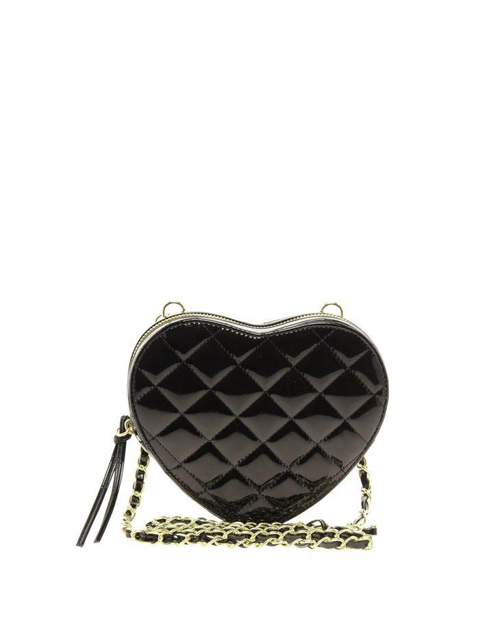 ASOS Quilted Heart Across Body Bag - mała, pikowana torebka w kształcie serca