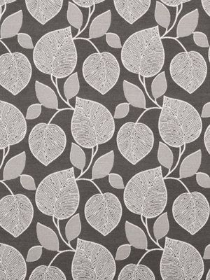 Superior Gray White Upholstery Fabric Artistic Leaves Fabric On Etsy, $58.98 CAD