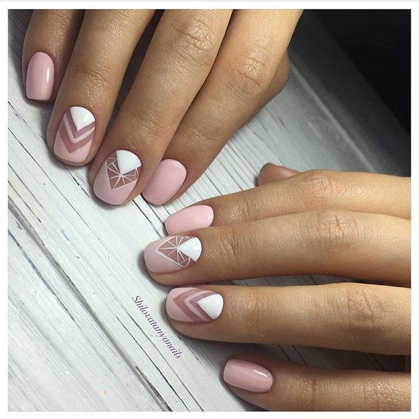 Light pink nails, Nail art stripes, Nails by striped dress, Nails ideas 2017…