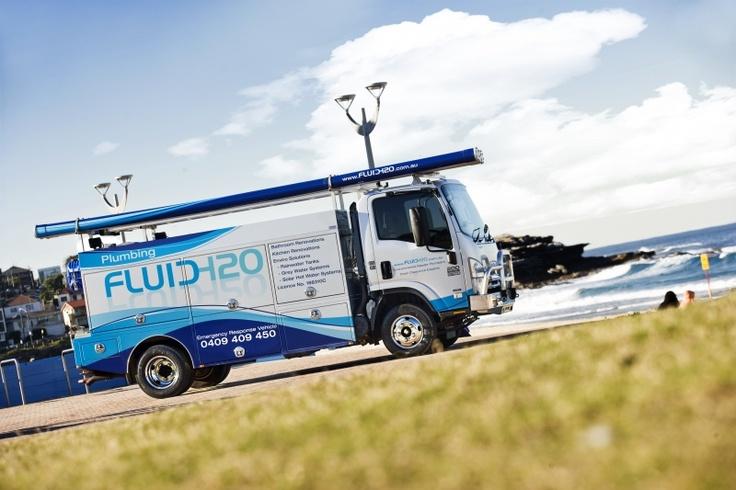 Isuzu Truck wrap, plumbing wrap, Fluid H20 Plumbing, Sydney