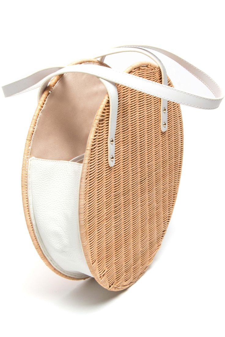 Aleso Wicker & Leather Bag