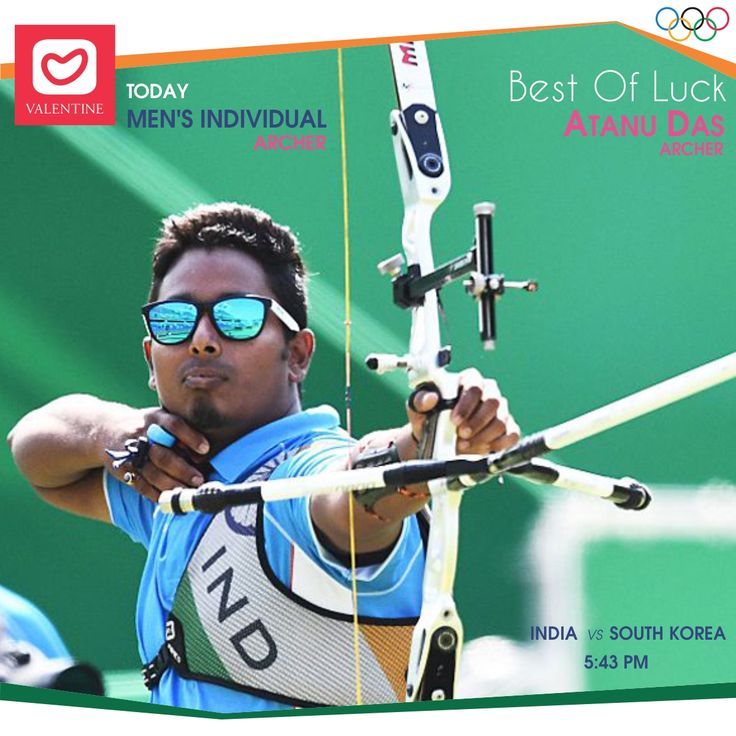All the best Wishes to our Indian Archer 'Atanu Das' for his fight against South Korea. Lets cheer up for him. Watch his fight against Korea at 5.43 pm. Good Luck. #archery #mensindividual #atanudas #archer #teamindia #indiajeetrio #rio2016 #RioOlympics2016 #olympics #goforgold #valentine #valentineclothes #madewithlove www.valentineclothes.com