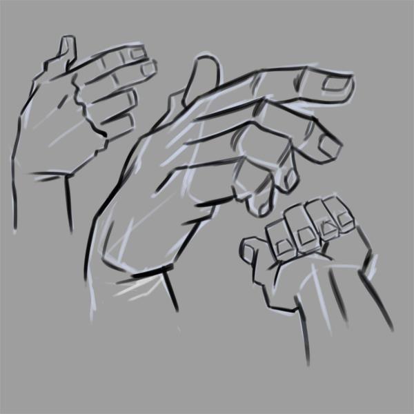Dibujar gestos de las manos