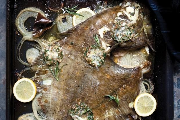 Nathan Outlaw's recipe for plaice and cider onions with anchovy butter