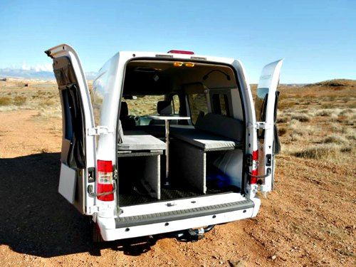 The Ford Transit Connect Camper is a sporty mini van for singles and couples, looking for a practical daily driver and a small camper all in  one compact vehicle.
