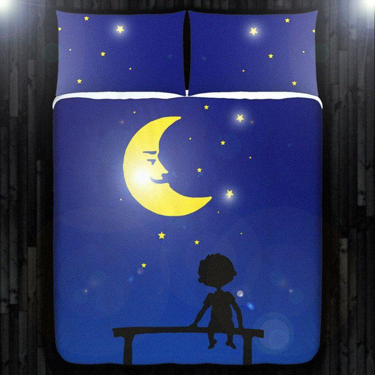 Starry Night Boy Kids Duvet Cover Bedding Queen Size by DUVETCOVER