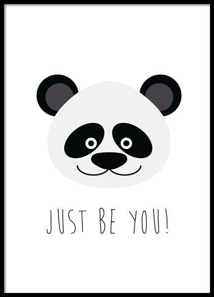 Mooie en leuke poster met een leuke panda. Past mooi samen bij onze andere kinderposter en posters met kindermotieven. www.desenio.nl