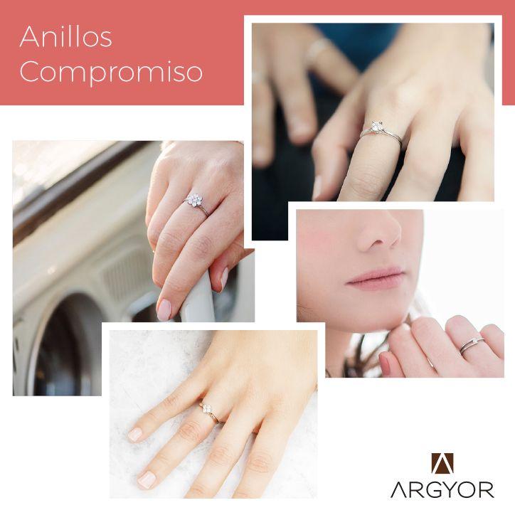 Ideas de compromiso. Ideas de foto con los estilos de anillos de compromiso Argyor: composición de diamantes o solitario.  #anillosdecompromiso #compromiso #engagement #argyor