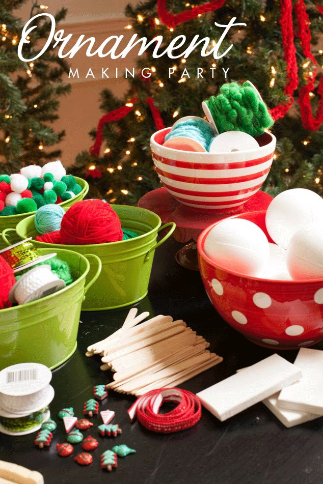 Children's Ornament  Making Party and Kids' Christmas Crafts | Frog Prince Paperie - Featured at the Home Matters Linky Party 163