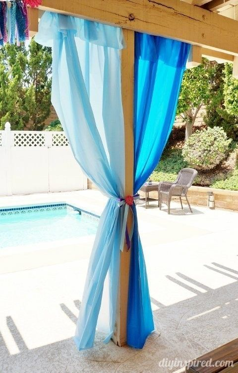 Turn colorful plastic table cloths into curtains for birthday parties or play rooms.