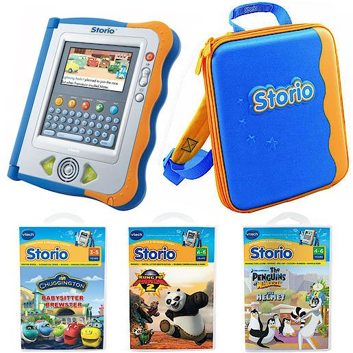 VTECH Storio Blue Interactive E-Reading Value Pack WEB ONLY deal - but choose Click and Collect at the checkout to pick it up from your local store in 2 to 4 working days. Bring story time to life with theVTech Storio Blue Interactive E-Reading Value  http://www.comparestoreprices.co.uk/educational-toys/vtech-storio-blue-interactive-e-reading-value-pack.asp