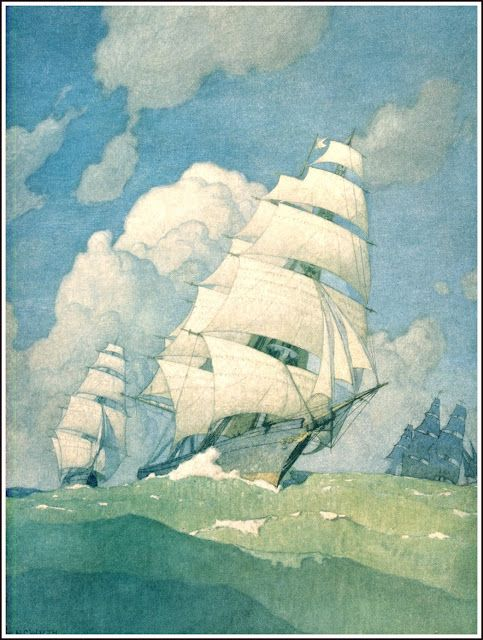 NC Wyeth ~ High Seas Exploration Mural at the First National Bank of Boston