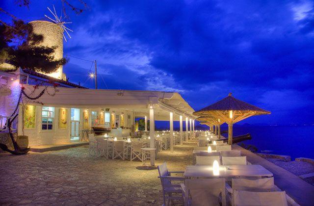 Sunset Restaurant in Hydra Island