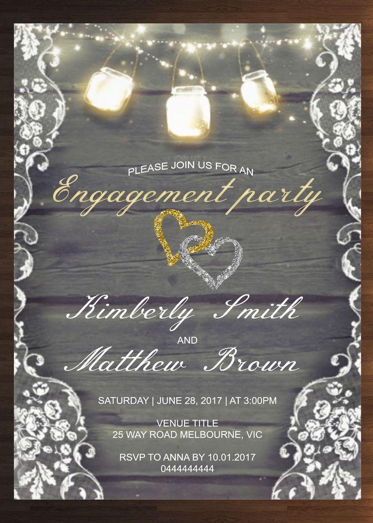 Custom Engagement Invitation Prints