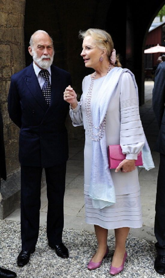 Prince Michael of Kent and his wife Marie Christine von Reibnitz attends the official opening of the 'Der Weg zur Krone exhibition at Schloss Marienburg on 30.04.2014 in Pattensen, Germany.