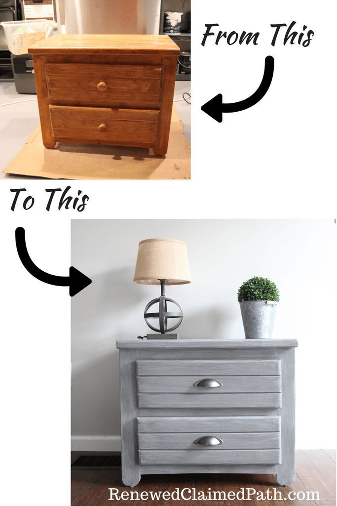 Click through to see how this thrift store find was turned into a rustic farmhouse end table