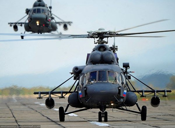UAWire - Russia deployed newest Terminator helicopters to its Eastern Military District