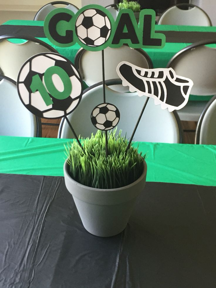 Soccer Themed Birthday-Centerpieces                                                                                                                                                      More