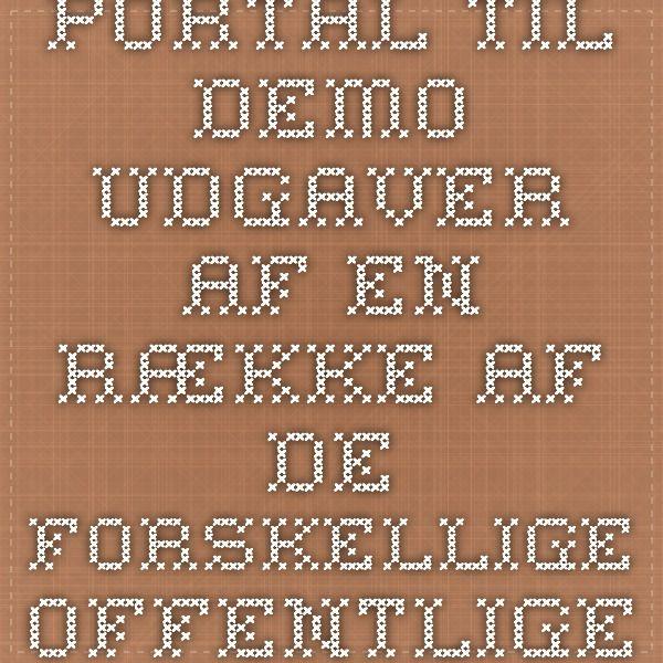 Portal til demo-udgaver af en række af de forskellige offentlige digitale løsninger