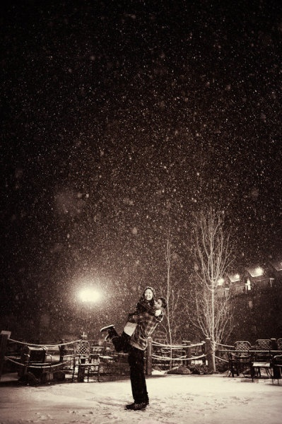 this is how you do engagement pictures. snow, snow and more snow. love!!!!