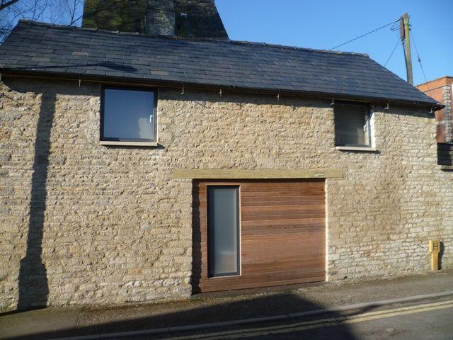 Exterior, cedar cladding, velfac windows
