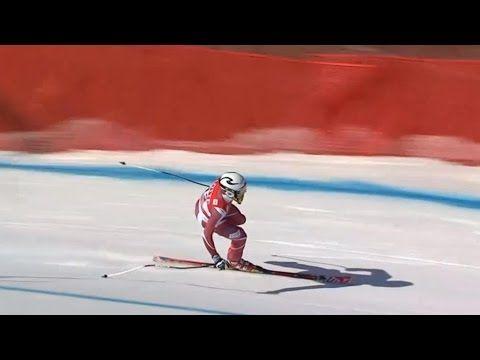 Aleksander Aamodt Kilde nailing the landing off a jump on ONE SKI