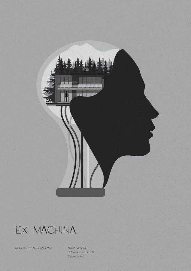 Ex Machina (2015) ~ Minimal Movie Poster by Matt Needle ~ Oscar 2016 Nominess #amusementphile