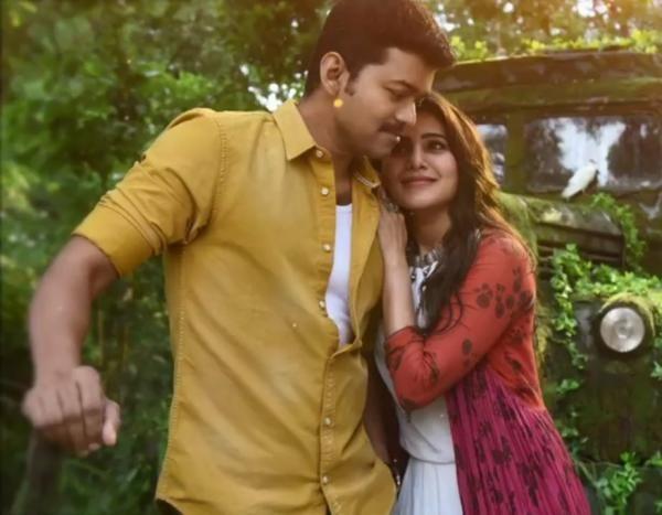 Vijay Kajal Agarwal Hot Song In Mersal Actor Photo Samantha Photos Cute Celebrity Couples