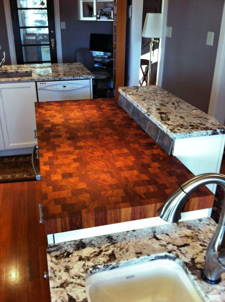 Custom solid wood end grain jatoba counter top custom for Designer countertops