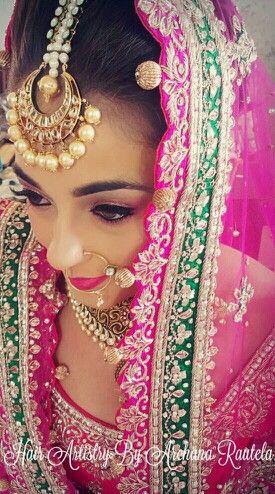 Avleen's final bridal day look Hair- Archana Rautela Archana Rautela - https://www.facebook.com/pages/Archana-Rautela/477138575686146