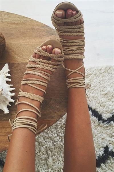 These are F.A.B from my favourite Australian company (so the prices are in Australian dollars!) Aria Heels - Nude Online by SABO SKIRT #skirt #women #covetme #heels #ropeheels #nudeheels #fashion #2016