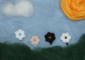 Felted hairpins by Pipo&mitten ~ Pipo&mitten huovutetut hiuspinnit