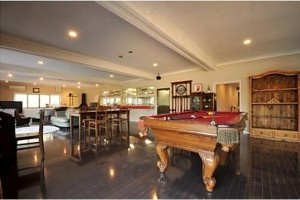 Giant pool table in the common area of a shared house - Tokyo