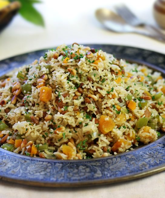 Pilaf with Lentils, Pine Nuts & Apricots - nutritious and delicious rice, suit my 5 a day diet plan. Yes!