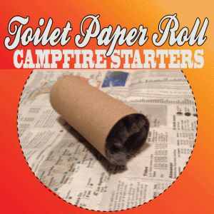 Toilet Paper Roll Campfire Starters