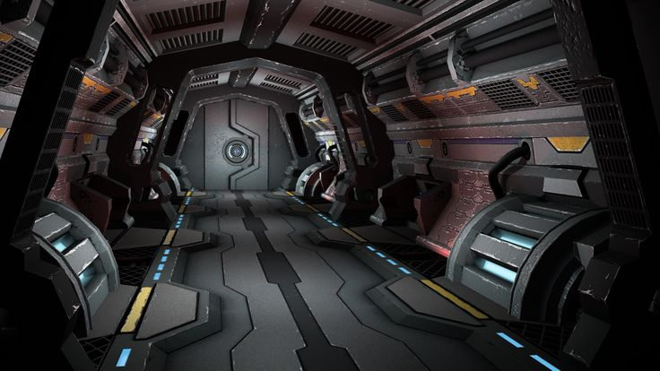 Sci-Fi Corridor by extojames.deviantart.com on @DeviantArt