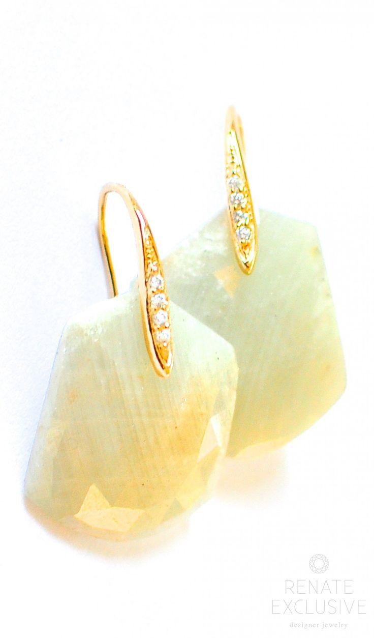 Luxury White Sapphire Earrings
