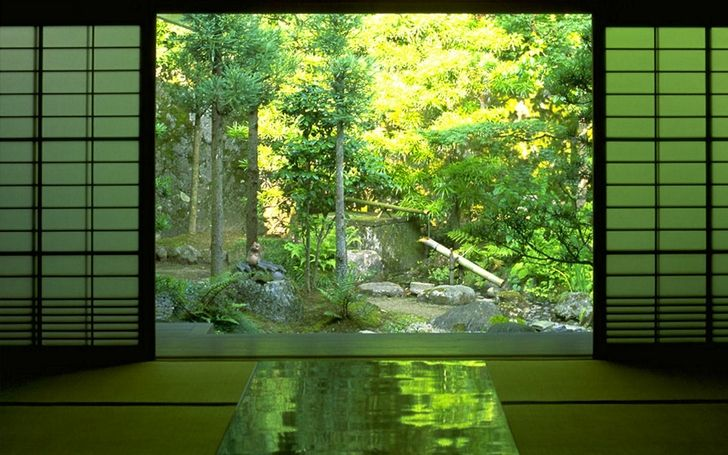 Japanese zen gardens japan nature indoors zen 1440x900 for Nature room wallpaper