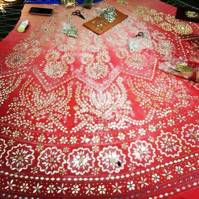 Working on bridal lehengas Bespoke custom made outfits  For any inquiries email : nivetasfashion@gmail.com or Whatsapp +917696747289. We Ship Worldwide We are Located in jalandhar Punjab  To book your order please whatsapp +917696747289  email : nivetasfashion@gmail.com #indianwear #bridalwear #bollywood #fashionista  #indianbride #desicouture #salwarkameez #indianfashion #designerwear #exclusive #desifashion #anarkali #lehengas #weddingsutra #indianwedding  #indianweddingbuzz #kundan…