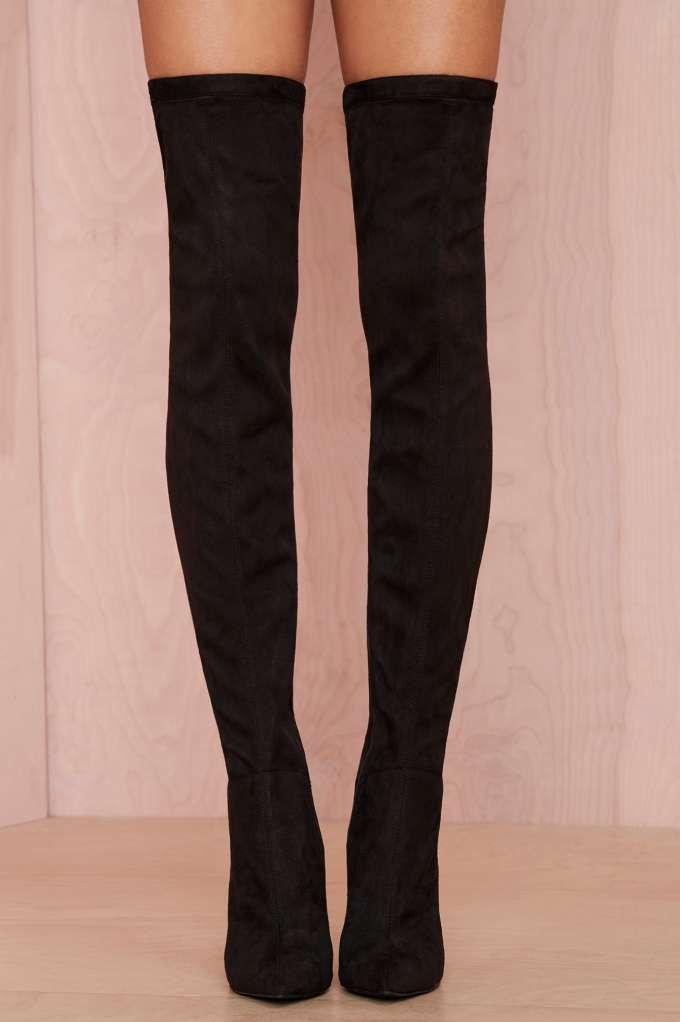 Jeffrey Campbell Superfreak Leather Thigh High Boot - Best Sellers   Jeffrey Campbell   Heels   Knee High